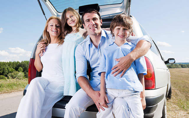Happy Family with a Good Auto Insurance