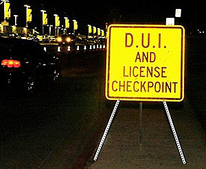 DUI checkpoint, later SR22 Bond